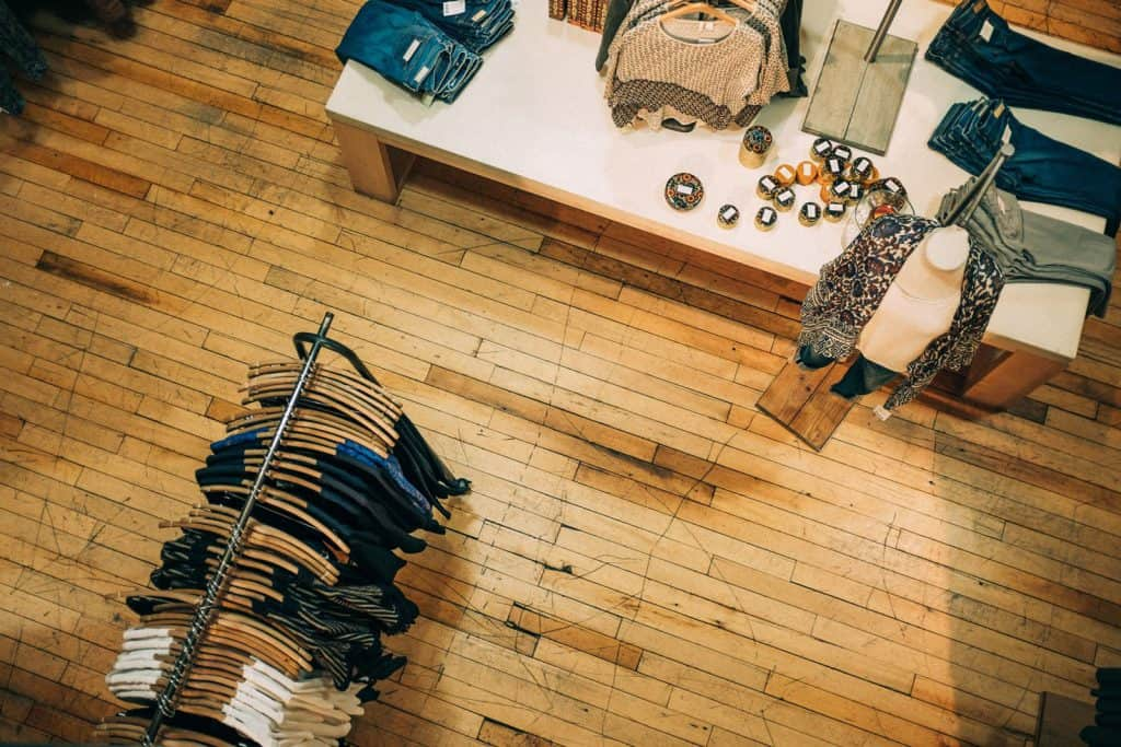 The inside of a retail small business