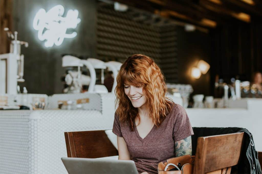 Woman searching online for a small business accountant