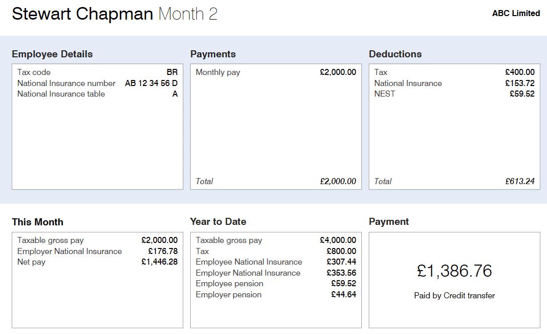 BrightPay Payroll Report